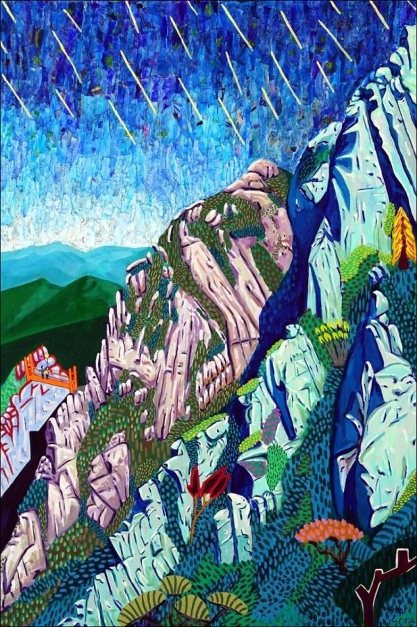 2. 송지윤_구름다리에서의 기억, 193.9x130.3cm, Acrylic on canvas, 2018.jpg