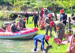 해병대 화순전우회, 동구리 호수공원 수중정화 활동