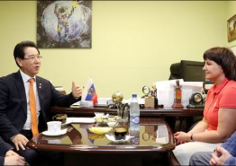김영록 전남지사, 러시아 과학단지서 한전공대 운영 구상