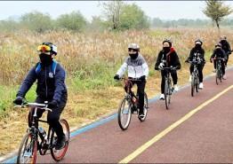 광주극락초교, '6학년 자전거 추억여행' 실시